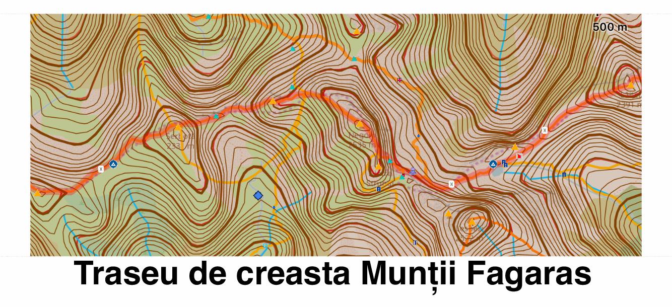 Interpretarea reliefului unui traseu montan dupa curbele de nivel